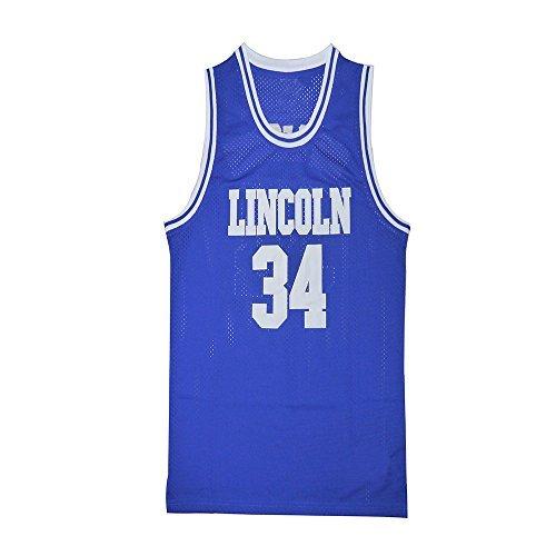 34 Ray Allen Jesus Shuttlesworth Jersey Jesus Shuttlesworth Lincoln He Got Game Movie Basketball Jerseys blue S