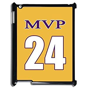 NBA Los Angeles MVP NO.24 Jersey Golden Hard Case Cover for Ipad 3 4