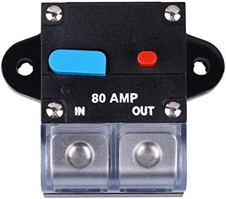 Garneck 回路ブレーカーマニュアル80アンペアリセットリセッタブルプライム車部品回路ブレーカー車の自動車