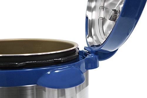 Elite Platinum EPC-808BL Maxi-Matic 8 Quart Electric Pressure Cooker, Blue (Stainless Steel)