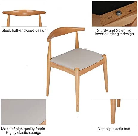 LUCKYERMORE 4 Pcs Assembled Mid-Century Dining Chair Armless Low-Back Side Chair