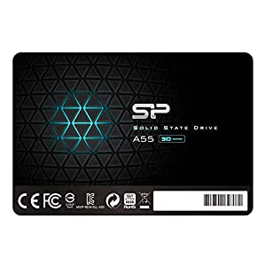 """Silicon Power 128GB SSD 3D NAND A55 SLC Cache Performance Boost SATA III 2.5"""" 7mm (0.28"""") Internal Solid State Drive (SU128GBSS3A55S25UA)"""