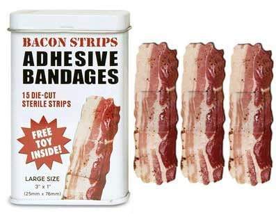 Bacon Strips Bandages (Quantity=2 Tins) by Accoutrements