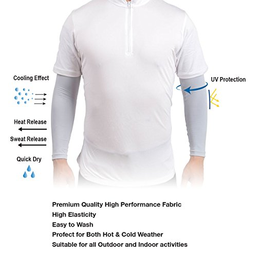 Amazipro8 Sports Cooling Arm Sleeves Uv Protection Free