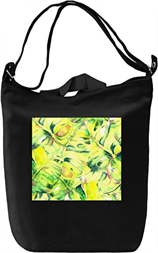 Leaf Pattern Borsa Giornaliera Canvas Canvas Day Bag| 100% Premium Cotton Canvas| DTG Printing|