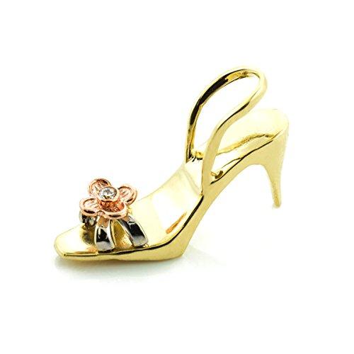 Petits Merveilles D'amour - 10 ct 471/1000 chaussures d'or 3D oxydes de zirconium Pendentif