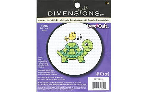 Learn-A-Craft Turtle Counted Cross Stitch Kit-3