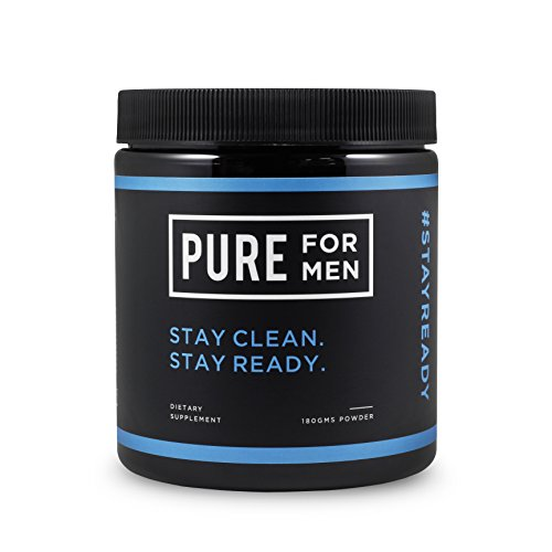 Pure for Men – The Original Vegan Cleanliness Fiber Supplement, Non-Capsule (Powder) – Proven Proprietary Formula