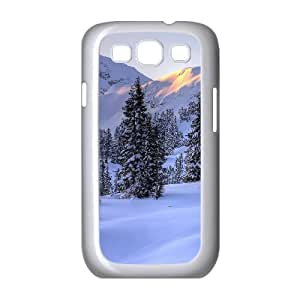 Sunlight on Mountains Samsung Galaxy S3 Cases, Samsung Galaxy S3 Cases for Girls Cheap Anti Fall Okaycosama - White