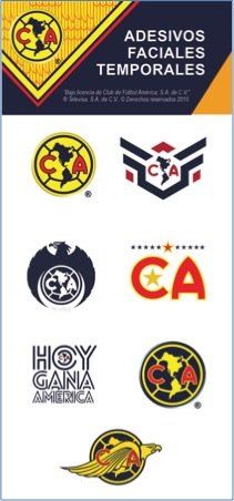 - Official Club Americas FC Face Stickers
