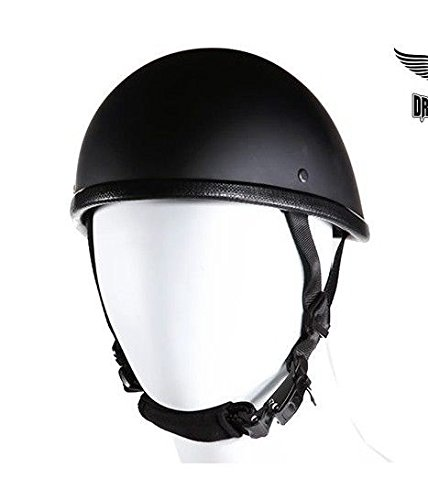 Dream Motorcycle Shiny GlossSmokey Novelty Helmet with quick release New (Men M Regular) (Snell Helmets Half)