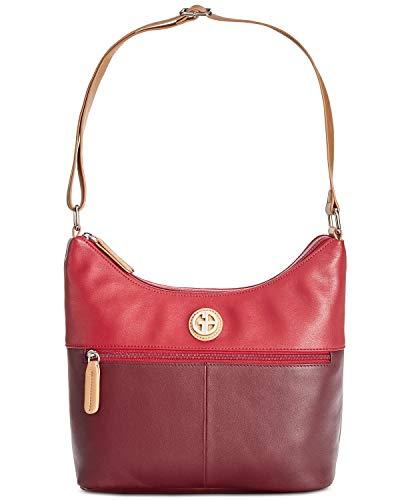 - Leather Bucket Colorblock Hobo