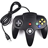 Classic N64 Controller, Ablave N64 Wired USB PC Game pad Joystick, N64 Bit USB Wired Game Stick Joy pad Controller for Windows PC MAC Linux Raspberry Pi 3 Genesis Higan (Black)