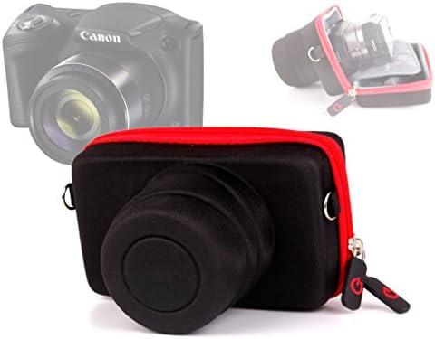 Duragadget-Funda rígida color negro/rojo para cámara de fotos ...