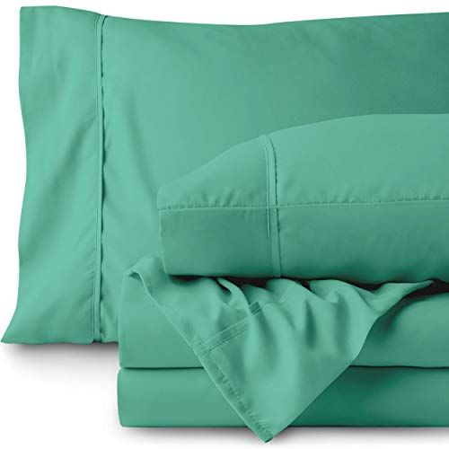 Bare Home Premium - Queen Size Sheets - 1800 Ultra-Soft Microfiber Collection Sheet Set - Double Brushed - Hypoallergenic - Wrinkle Resistant - Deep Pocket (Queen, Turquoise)
