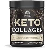Altertum Nutrition KetoCOLLAGEN Powder, Keto Diet Supplement, Types I, II and III Collagen Plus Coconut MCTs, Pure Flavor, 30 Servings, 19 oz