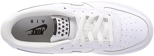 Nike Air Force 1 (GS) Jungen Sneakers Elfenbein (Whitewhiteobsidian 103)