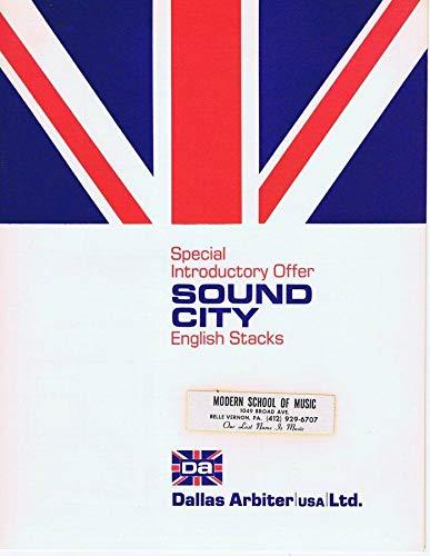ORIGINAL Vintage 1972 Sound City English Stacks Amps Catalog Dallas Arbiter