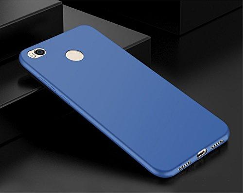 Xiaomi Mi Max 2 Mimax 2 Funda + Acollador, Flexible Suave Silicona Gel Carcasa, Ultra Delgado y Ligero Protectora Completa TPU Goma Caso, Anti-Arañazos Anti-Huellas Dactilares Caja - Oro Azul