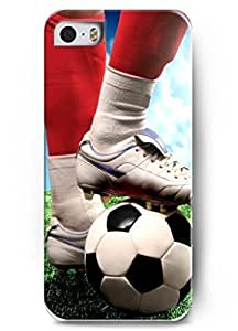 Hard Case for Iphone 5 5S with the Design of Football With Fire Tail hjbrhga1544 by ruishername