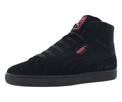 Puma Suede Mid WOG para hombre negro Suede High Top Lace Up Formadores Zapatos
