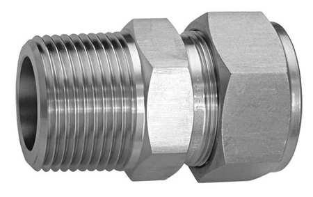 1/8'' x 1/4'' Compression x MNPT SS Male Connector