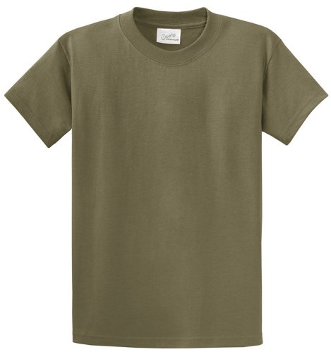 Tee 100% Cotton Heavyweight (Joe's USA Heavyweight 6.1-ounce, 100% cotton T-Shirts in 50 Colors and Sizes S-6XL Olive)