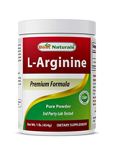 affordable Best Naturals L-Arginine Powder 1 Pound - Pure Pharmaceutical Grade Free Form - Best Amino Acid Arginine Supplements for Women  Man - Promotes Circulation and Supports Cardiovascular Health
