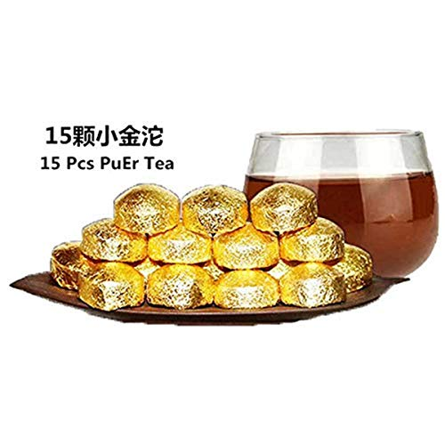 15 Pcs Net weight 75g (0.165LB) Organic PuEr Tea Chinese Yunnan Pu'Er Tea Mini Pu Er Tuocha Black tea Chinese tea Pu er tea Ripe tea Puerh tea Pu-erh tea Old trees Pu erh tea cooked tea Red tea - Old Tree Pu Erh Tea