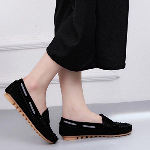 Fashion Müßiggänger 2016 Größe UK Ballerinas Schuhe Flache Clode® Damen Schuhe Damen Schwarz Wildleder Flache AdwaSq1z