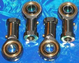 10 mm Rod End Bearing M10 x 1,5 mm Rod Ends Ball Guarnizione femminile Thread Right Thread 4 pz