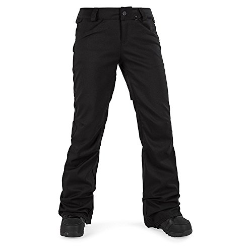 Volcom Junior's Species Stretch 2 Layer Shell Snow Pant, Black, Extra Small by Volcom