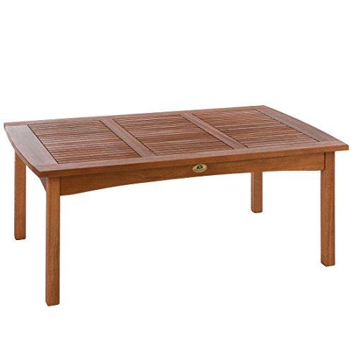Ultranatura Loungetisch, Canberra Serie - Edles & Hochwertiges Eukalyptusholz FSC zertifiziert - 110 cm x 70 cm x 47 cm