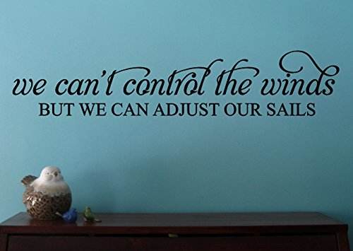 (Wall Decor Plus More WDPM3517 We Can't Control The Wind Inspirational Wall Decal Quote, 36 by 7