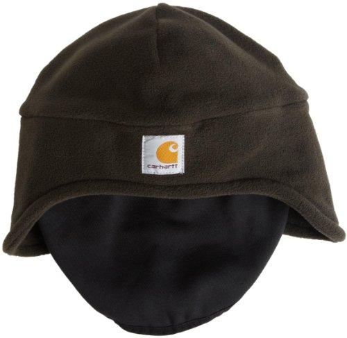 Green Fleece Hat (Carhartt Men's Fleece 2-In-1 Headwear,Moss,One Size)