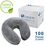 EARTHLITE Fitted Disposable Face Cradle Covers - Medical-Grade, Soft, Non-Sticking Massage Face Covers/Headrest Covers for Massage Tables & Massage Chairs