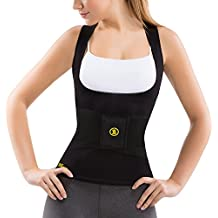 Hot Shapers Women's Cami Hot with Waist Trainer Belt Slimming Activewear Compression Vest for Thermal Calorie Burn