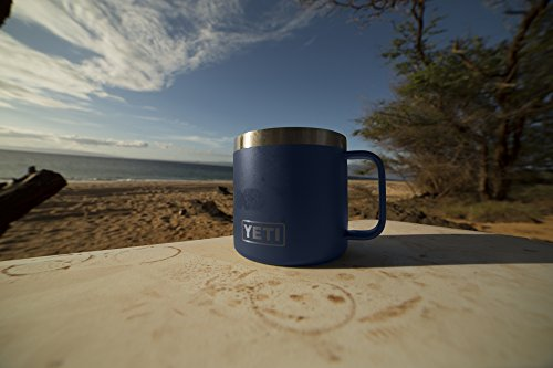 YETI Rambler 14 oz Stainless Steel Vacuum Insulated Mug with Lid, Navy