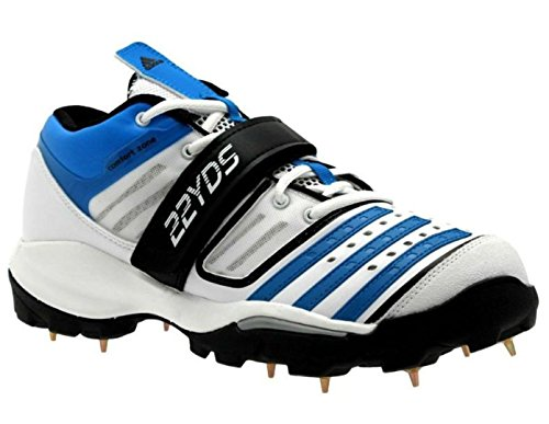 Adidas Twenty2Yds Mid IV Cricket Stiefel Weiß - Blau