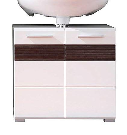 blanc ultrabrillant Maisonnerie 1280-301-12 Meuble sous lavabo Mezzo en blanc ch/êne Melinga fonc/é LxHxP 60 x 56 x 34 cm
