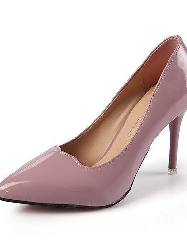GGX/ Damen-High Heels-Hochzeit / Büro / Lässig-Kunstleder-Stöckelabsatz-Spitzschuh-Schwarz / Rosa / Grau pink-us6 / eu36 / uk4 / cn36