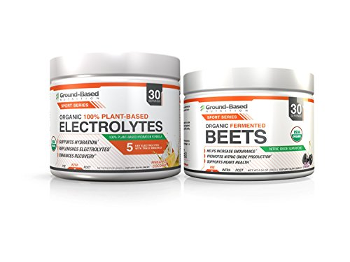 Ground-Based Nutrition Certified Organic Electrolytes and Fermented Beets Powder Bundle – Raw Food, Zero Carb Plant-Based Formula, Vegan, Gluten Free, Non-GMO, Sugar Free, 30 servings For Sale