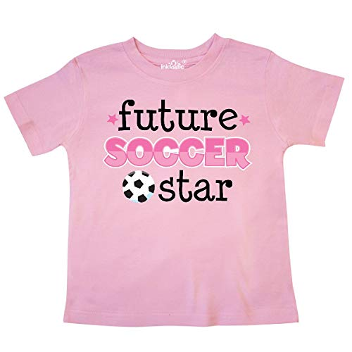 inktastic - Future Soccer Star Girls Toddler T-Shirt 5/6 Pink ed8c