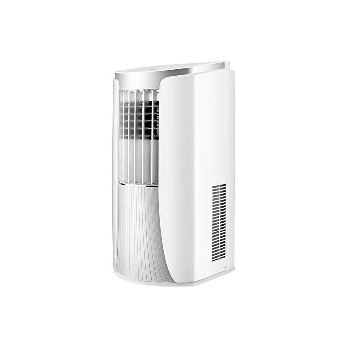 41Ym1OB0c6L Multifunción 3 en 1: unidad de aire acondicionado portátil con ventilador de enfriamiento y función de deshumidificación, incluida la manguera de escape. Función de enfriamiento: la capacidad de enfriamiento de 12000 BTU, con sistema de filtración de aire, puede mejorar la calidad del aire. Función de deshumidificación: puede usarse independientemente de la función de aire acondicionado; le permite extraer hasta 21 litros de exceso de agua y humedad de la atmósfera todos los días