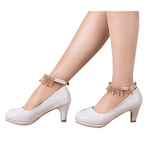 D'onore Beautiful Silver Dimensioni Scarpe Di Donna colore Da Alti D'argento 39 Shoes Sposa Abiti 6cm Nozze con Bridal Damigella Tacchi Silver xqRcUrw0q4