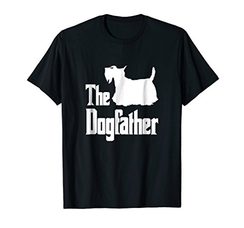 The Dogfather t-shirt, Scottish Terrier silhouette, dog ()