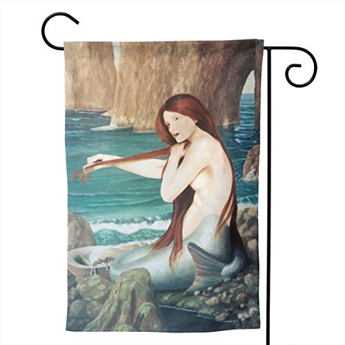 - Pinata Classic Mermaid Beauty On Beach Funny Decorative Outdoor Double Sided Garden Flag, House Yard Flag,Garden Yard Decorations,Seasonal Welcome Outdoor Flags