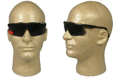 (Smith & Wesson 138-19824 Magnum Mini Safety Eyewear, Smoke Polycarbonate Anti-Scratch Lenses, Black Frame, One Size)