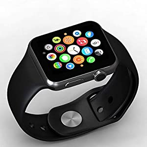 Paithavik A1 Smart Watch with Camera and Sim Card Support with Apps Like Whatsapp and Facebook for All 3G & 4G Android/iOS Smartphones (Silver)