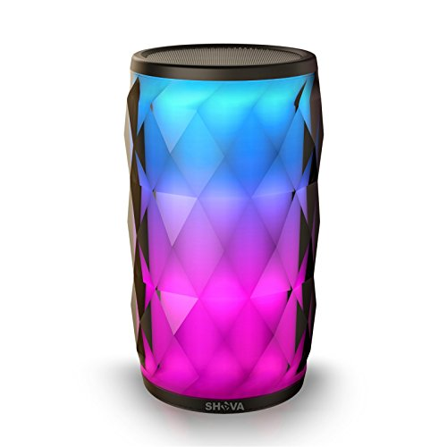 Night Light Bluetooth Speaker, SHAVA Jewel Portable Wireless Bluetooth Speaker Touch Control RGB Speaker 6 Color LED Themes Bedside Table Lamp, Speakerphone/PC/